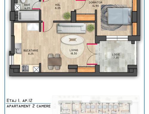 Postavarului Stylish Residence Etaj 1 Ap 12