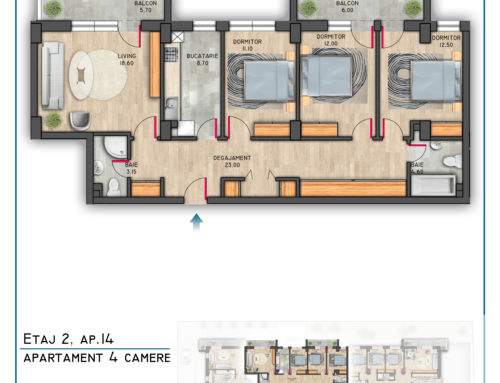 Postavarului Stylish Residence Etaj 2 Ap 14