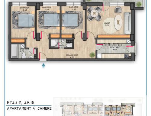 Postavarului Stylish Residence Etaj 2 Ap 15