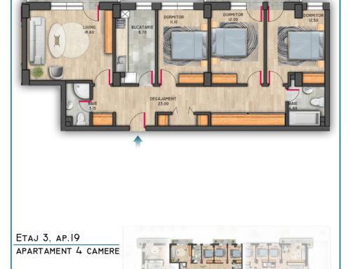 Postavarului Stylish Residence Etaj 3 Ap 19
