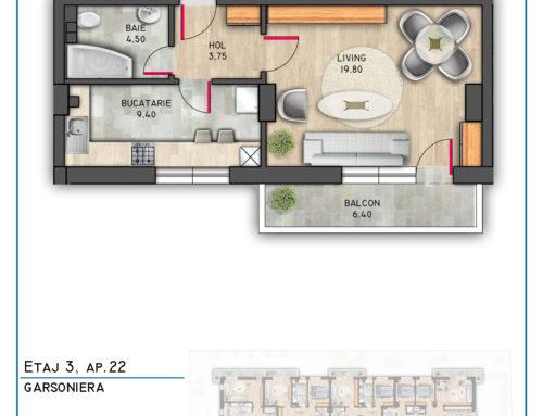 Postavarului Stylish Residence Etaj 3 Ap 22