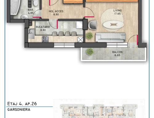 Postavarului Stylish Residence Etaj 4 Ap 26